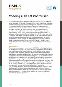 Voedings- en eetstoornissen in de DSM-5