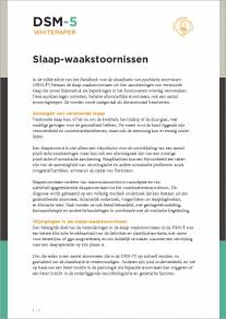 Slaap-waakstoornissen in de DSM-5