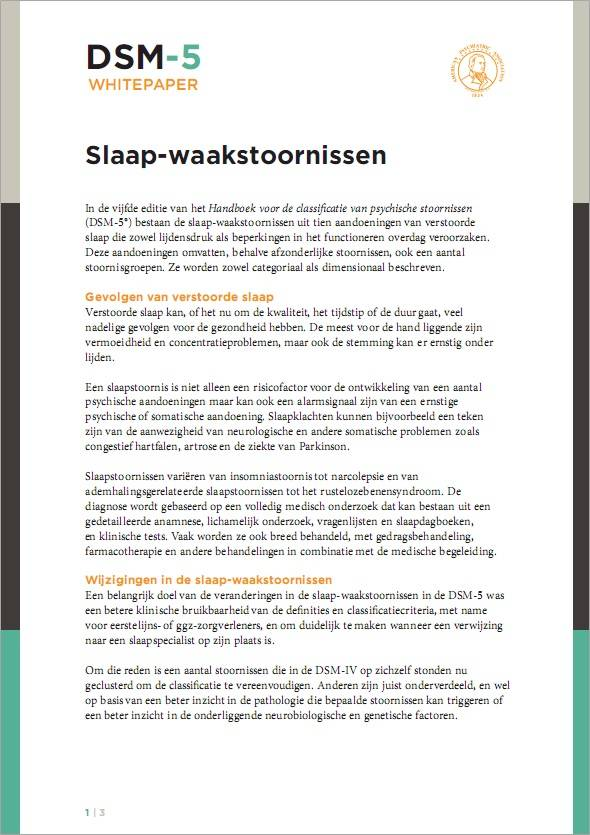 Gratis whitepaper: Slaap-waakstoornissen in de DSM-5